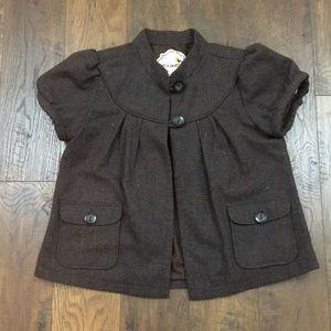 Anthropologie Nick and Mo brown wool swing coat